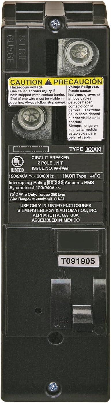 Siemens QS2200H QS Type 200-Amp Multi-Family Main Breaker, 22 KAIC Rated