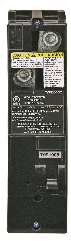 Siemens QS2100H QS Type 100-Amp Multi-Family Main Breaker, 22 KAIC Rated