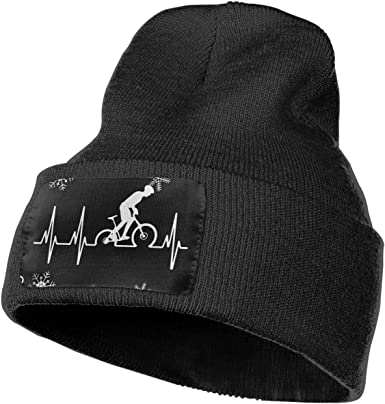 Mountain Bike Heartbeat Men Women Knit Hats Stretchy /& Soft Beanie Cap Hat Beanie