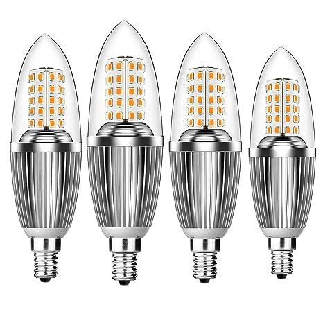 Hzsane Bombillas de Vela LED E14 de 12W, Bombillas Incandescentes Equivalente de 100W, Blanco