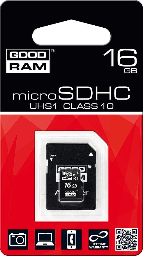 Goodram Micro SD C10 - Tarjeta de Memoria Micro SDHC de 16 GB