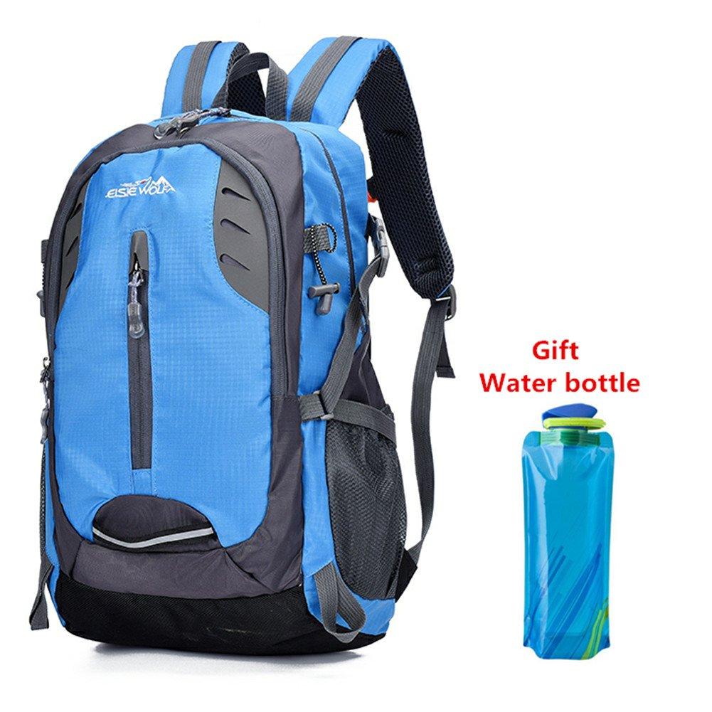 e9fe89eedc70 lingvi 30L waterproof Travel Hiking Backpack Outdoor Durable Trekking  Rucksack Daypack for Men Women (Blue)  Amazon.co.uk  Sports   Outdoors