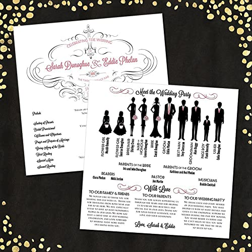 Amazon com: Silhouette Wedding Program Large (16 figures