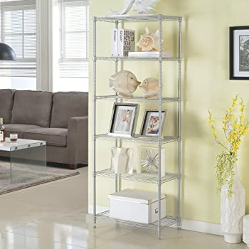 LANGRIA 6 Tier Wire Shelving Unit Organization and Storage Rack