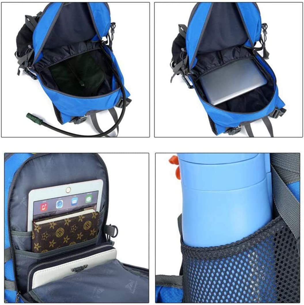 Waterproof and Wearable Sports Fitness Bag Haoyushangmao Backpack Color : Dark Blue Outdoor Travel Camping Climbing Backpack -55L Latest Models