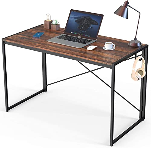 Folding Desk 40 Inch Small Computer Desk Foldable Home Office Desk