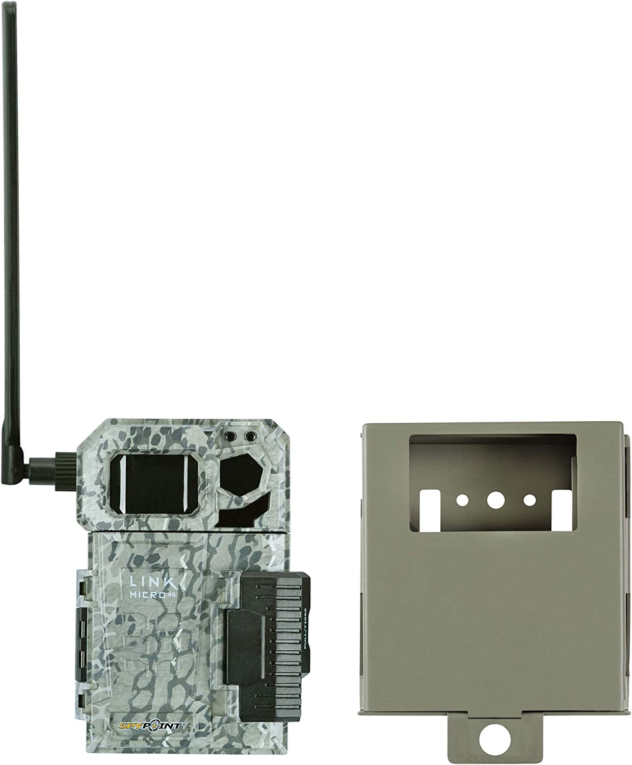 Spypoint Link Micro 4G Cellular Trail Camera with Steel Security Box (Link-Micro-V)