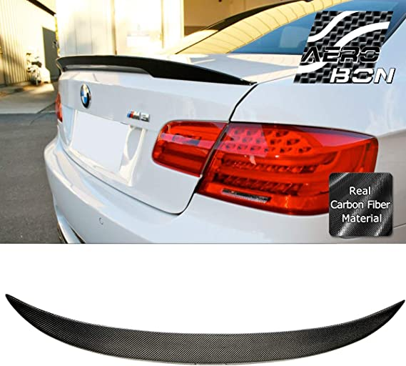 Fit For BMW E92 3-Series M Type Rear Trunk Spoiler Wing Carbon Fiber