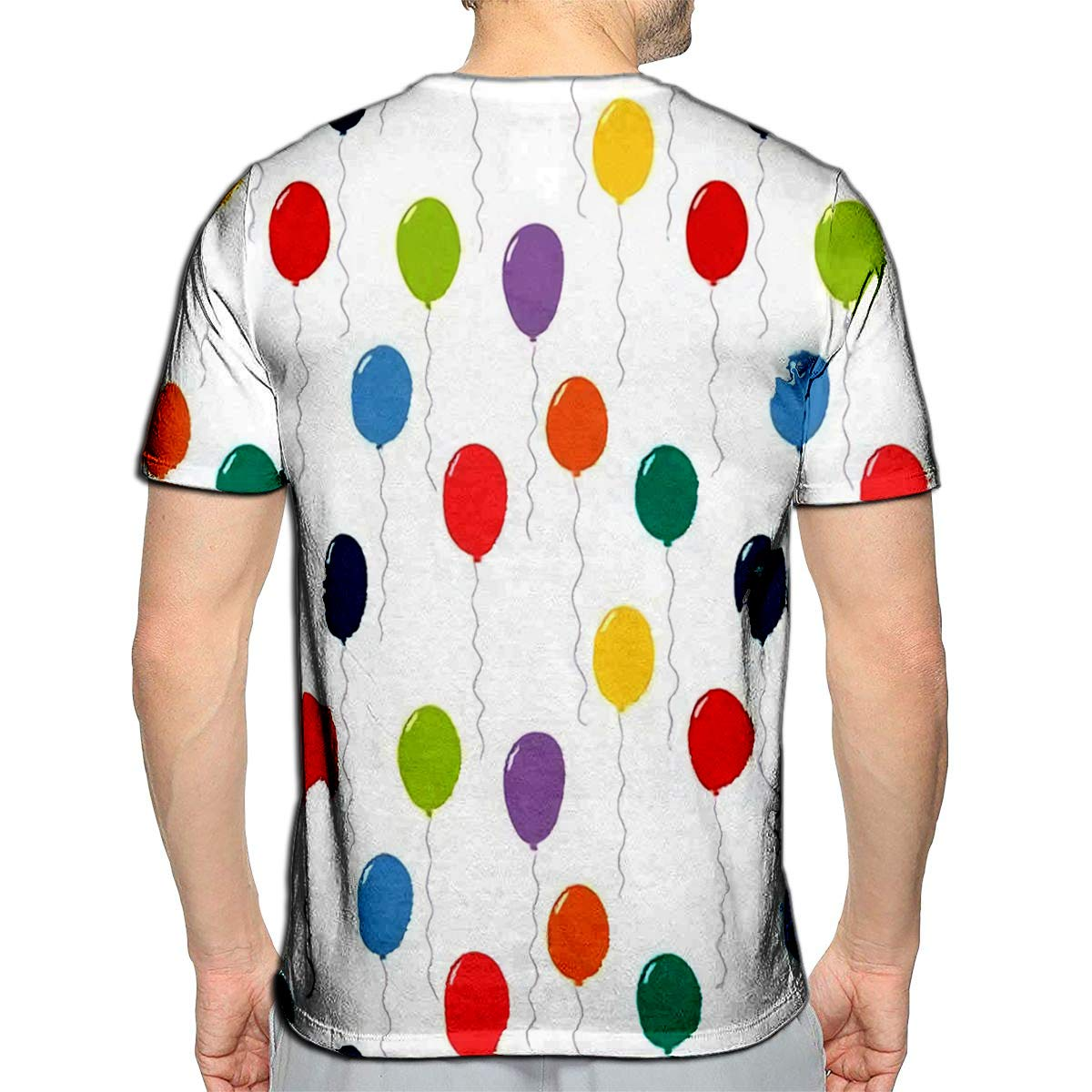 YILINGER 3D Printed T Shirts Colorful Flying Balloons Design Concep Casual Mens Hipster Top Tees