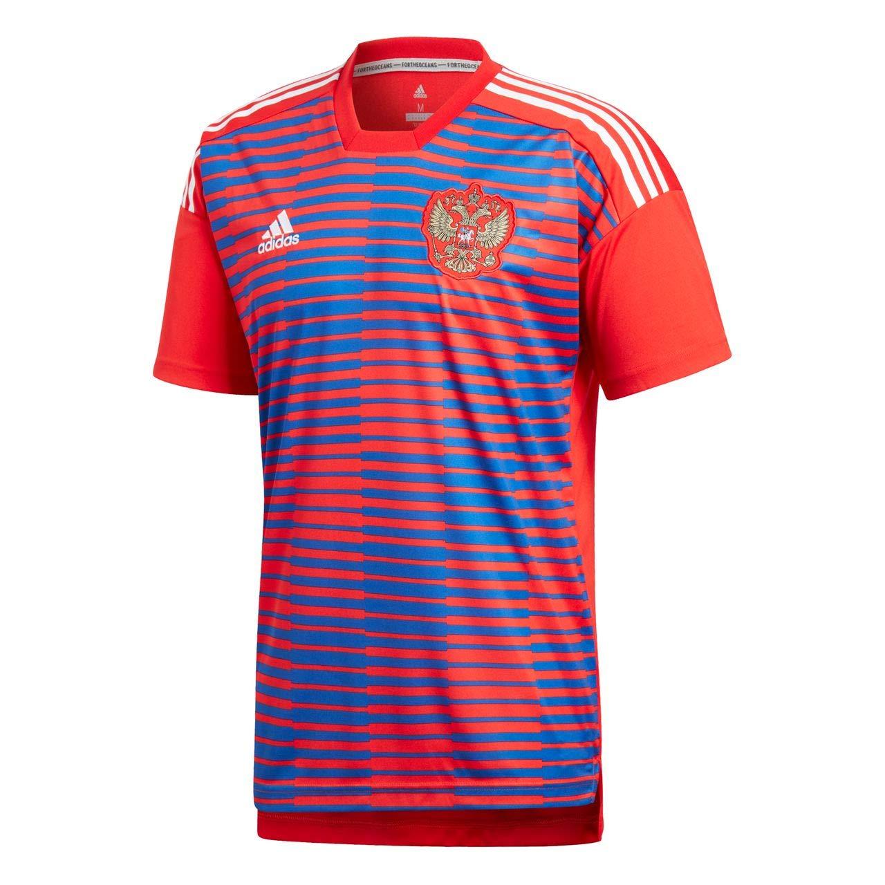 Adidas Rusia de Home Pre Match Camiseta: Amazon.es: Deportes y aire libre