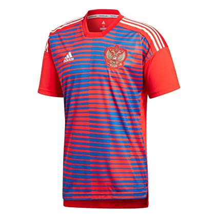900f0eb67 Image Unavailable. Image not available for. Color  adidas 2018-2019 Russia  Pre-Match Football Soccer T-Shirt ...