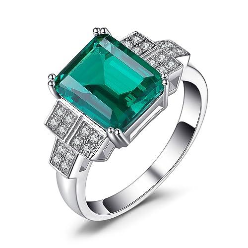 8250b76acbea Jewelrypalace Anillo de la declaración esmeralda de la nana de las mujeres  2.7ct Creado 925 plata esterlina Tamaño 17  Amazon.es  Joyería