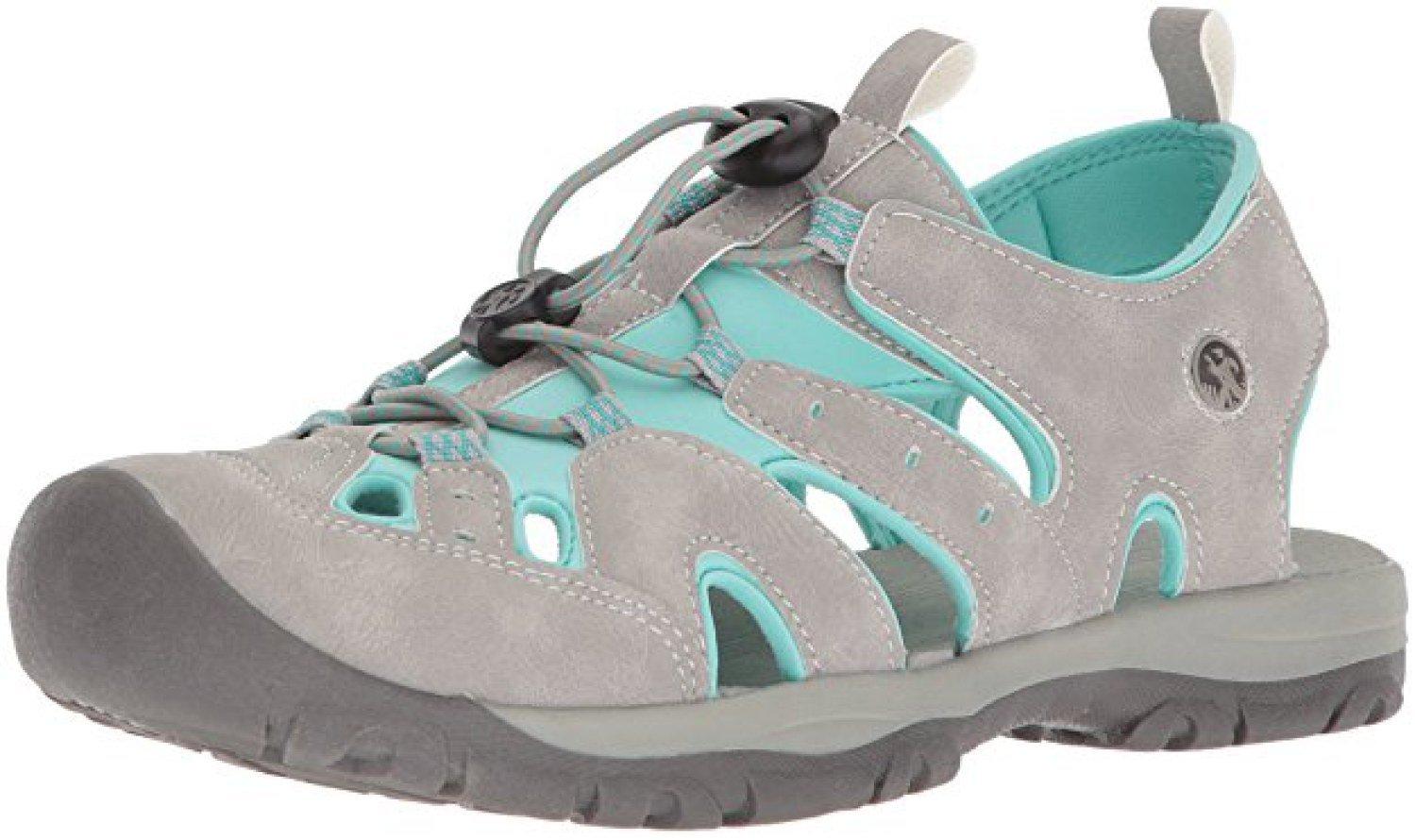 Northside Women's Burke II Athletic Summer Sandal; with a Waterproof Wet Dry Bag B07D93RKYF 8 B(M) US|Lt Gray/Turquoise