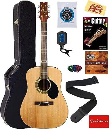 Amazon.com: Jazmín S35 paquete de guitarra acústica ...