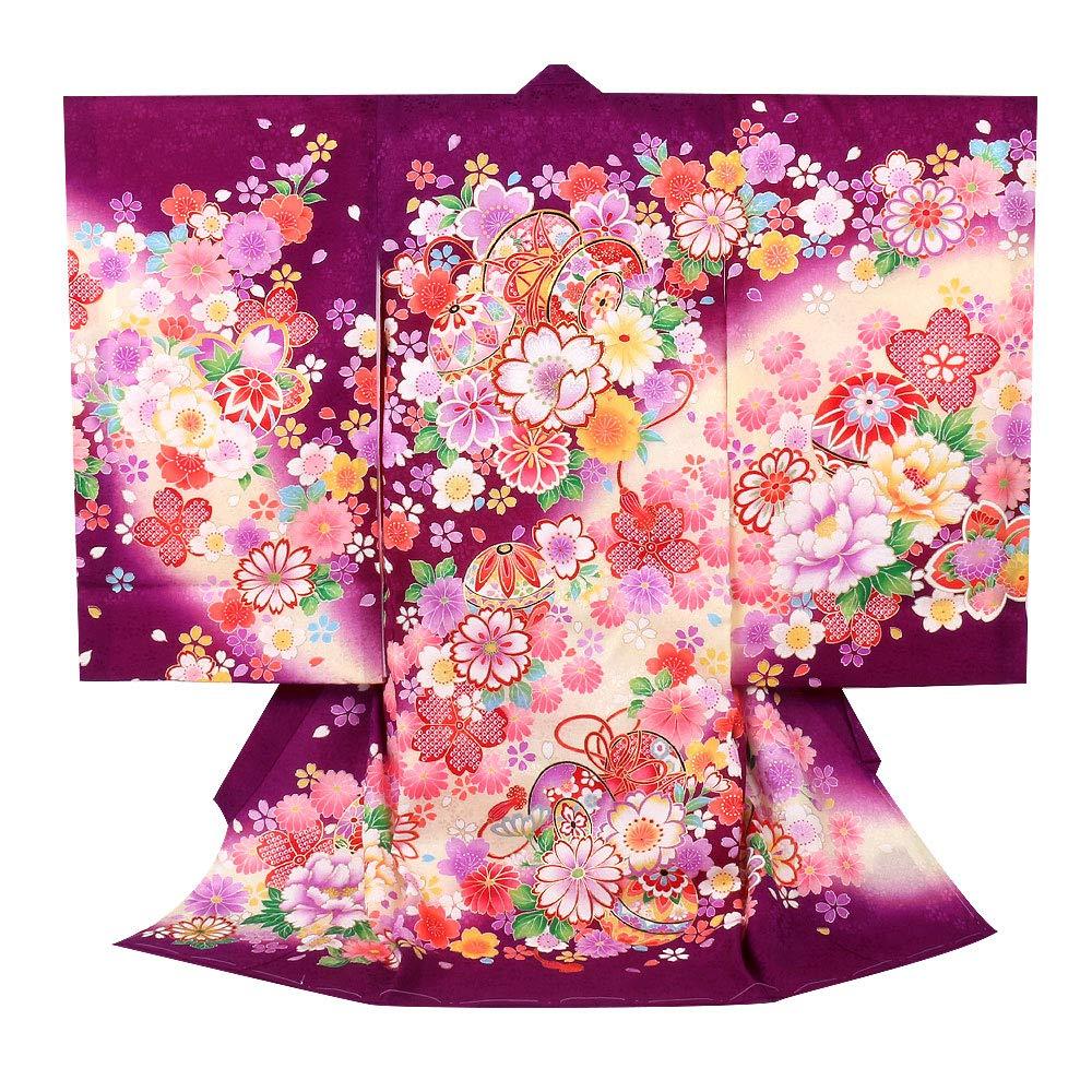 殿堂 (キステ)Kisste お宮参り 産着 お宮参り 女の子 日本製 <お宮参りきもの> 正絹 <紫/八重桜に鼓> 日本製 産着 8-7-00293 B07Q5SJD4F, リサイクルトナーインクのTOA:bb254986 --- senas.4x4.lt