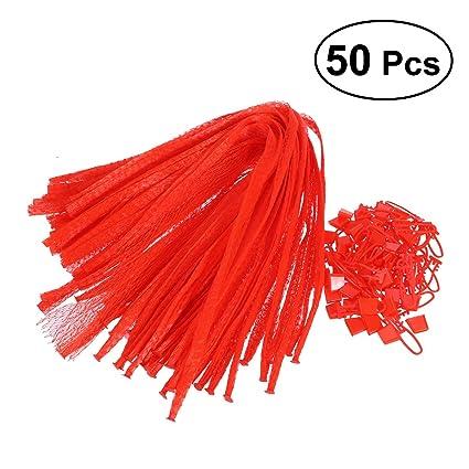ounona 50 unidades Red bolsas reutilizables bolsillos de ...