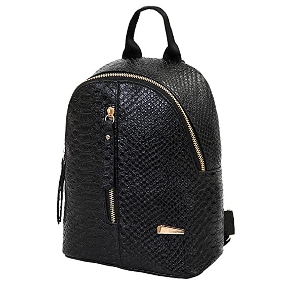 Amazon.com | Girls Small Leather Casual Backpack Travel University Bags for Women By TOPUNDER | Casual Daypacks