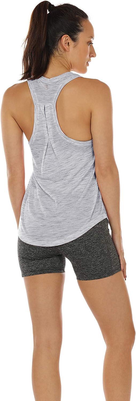 icyzone Camiseta sin Mangas de Yoga para Mujer Chaleco Deportivo Pack de 2