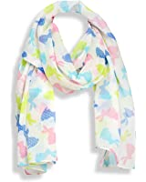 Pastel Easter Bunny Scarf with Colorful Rabbits