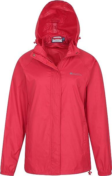 Wind Resistant Mountain Warehouse Pakka Kids Waterproof Jacket for Wet Weather Lightweight /& Breathable Rain Coat for Girls /& Boys with Packaway Bag School Travel