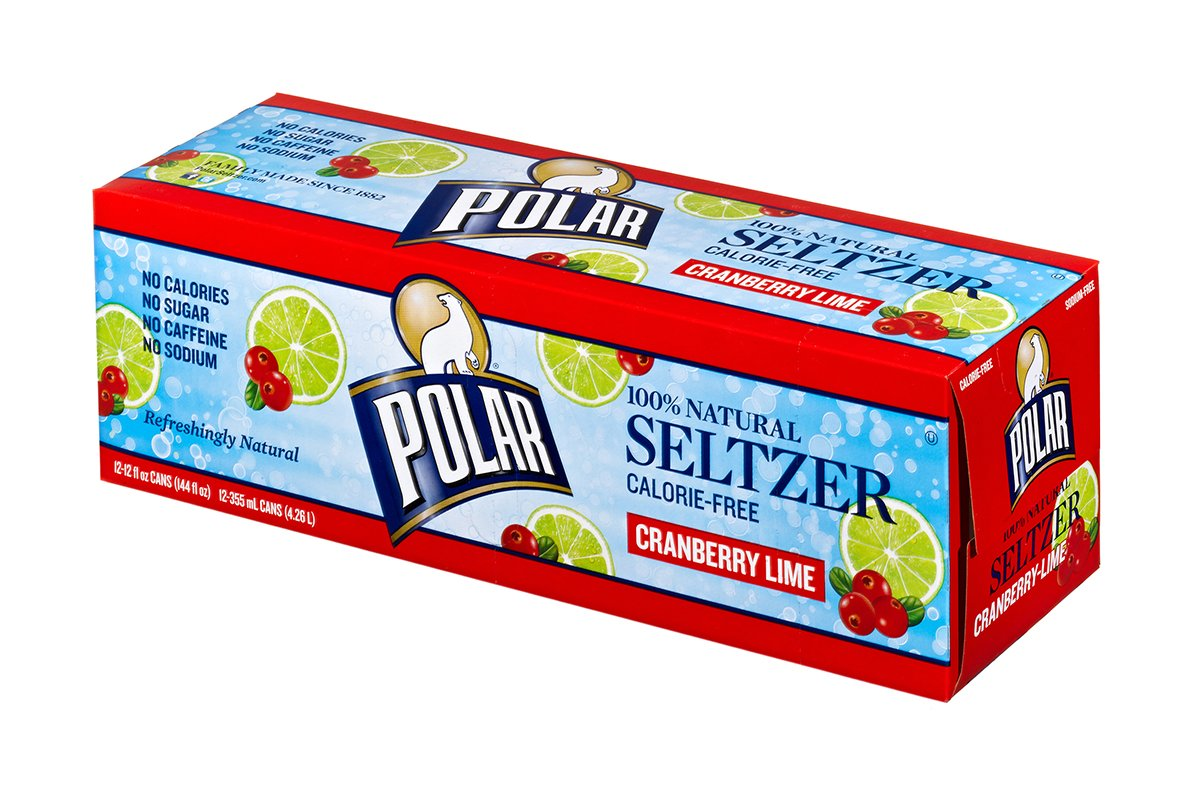 Polar Seltzer Cranberry Lime, 12 Fluid Ounce (Pack of 12) by Polar Beverages