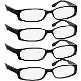 Reading Glasses 2.00 4 Black (4 Pack) F503