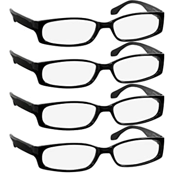b2bca8b48c5 Reading Glasses 2.5 Best 4 Pack Black Readers for Men and Women Always Have  a Stylish