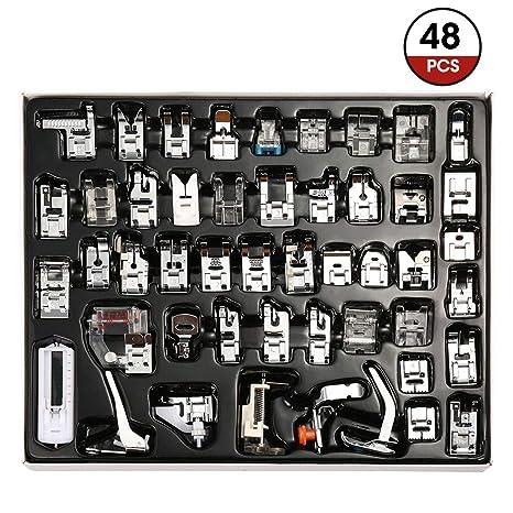 ARTISTORE 48 piezas Máquina de coser prensatelas, accesorios de pie prensatelas Juego de pie profesional