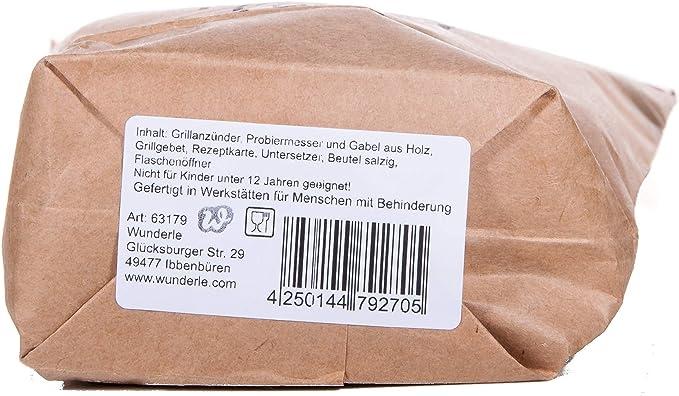 WUNDERLE Tüte Männer Grill braun 12tlg
