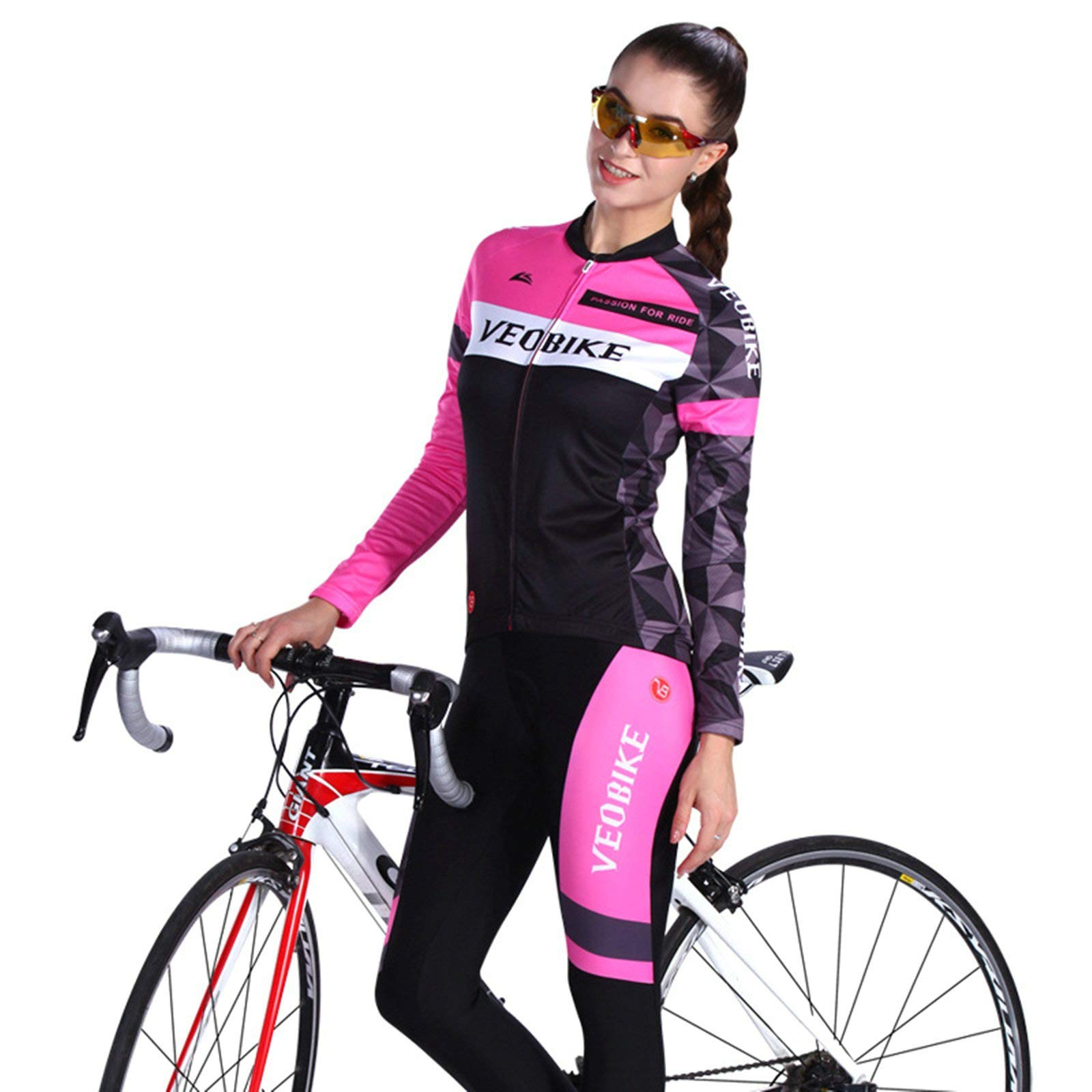 Aooaz Women Cycling Set Shirt and Tights Size XXL by Aooaz (Image #2)