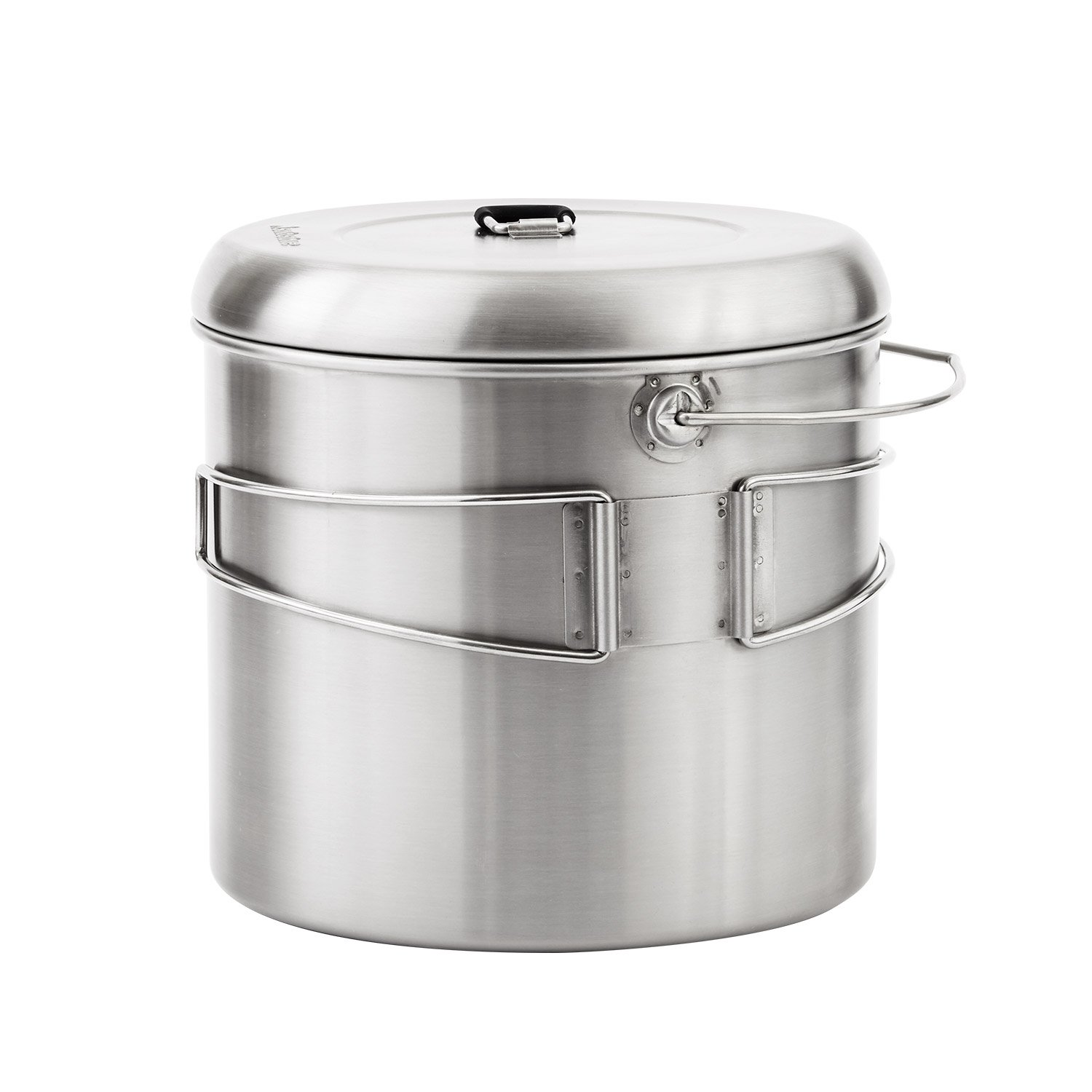 Solo Stove Pot 4000: Stainless Steel Companion Pot Campfire. Great for Backpacking, Camping, Bushcraft, Survival by Solo Stove