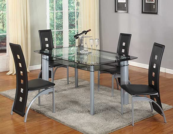 Roundhill Furniture Cinda Metal Contemporary Dining Room Chair