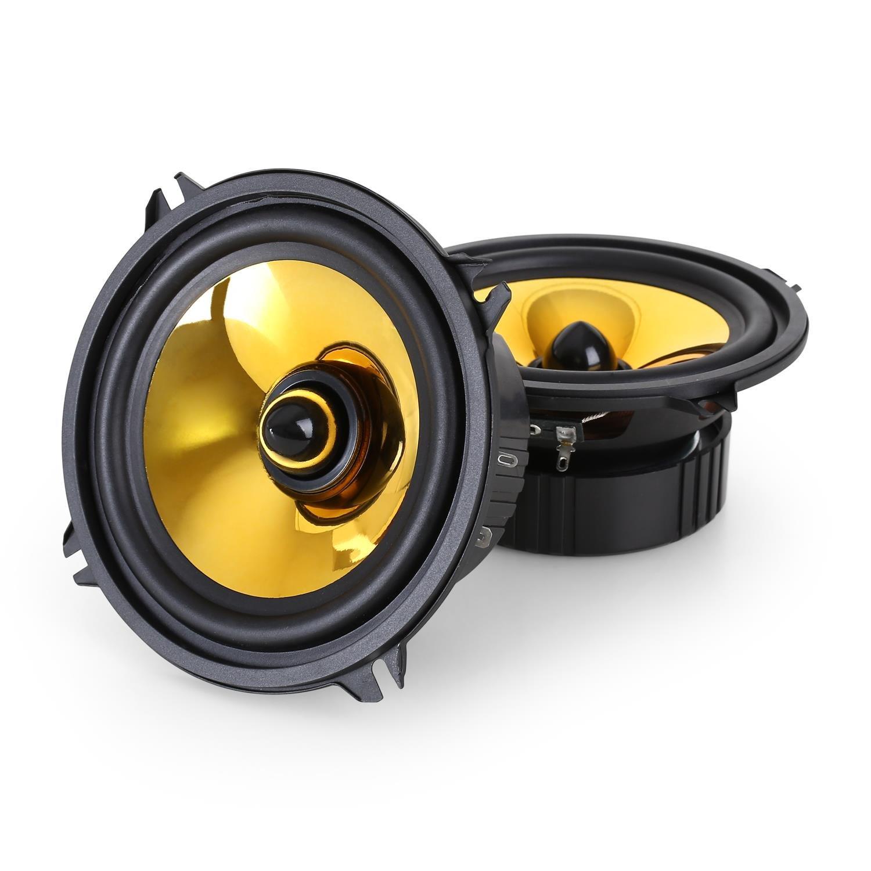 auna Goldblaster 6.5 • 3-Wege-Koaxial-Boxen • Auto Einbau-Lautsprecher Paar • 600 Watt max. • 2x16, 5cm-Boxen • schwarz-gold 10006882