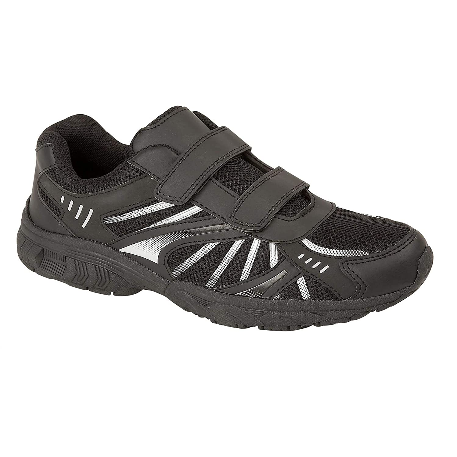 Mens Boys Trainers Black Casual Running Gym Fitness Sports Shoes
