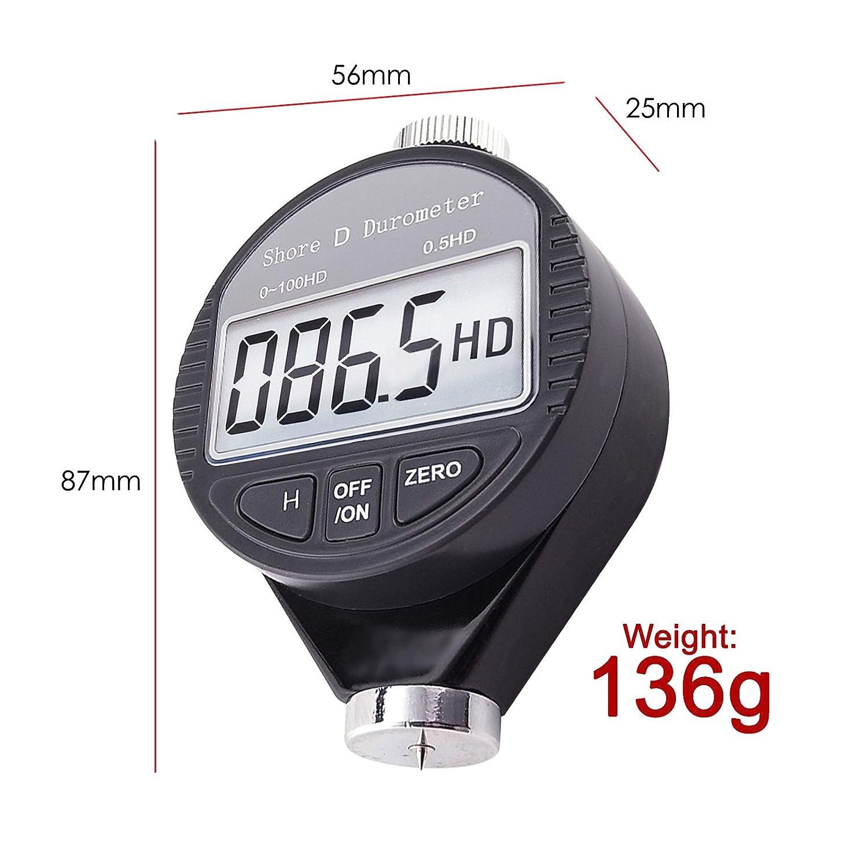 Digital Shore D Meter 0 to 100 Hd Durometer