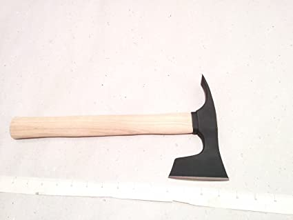 Small Bearded Hatchet / Axe / Axt with Adze Blade Bushcraft - Steel 4150