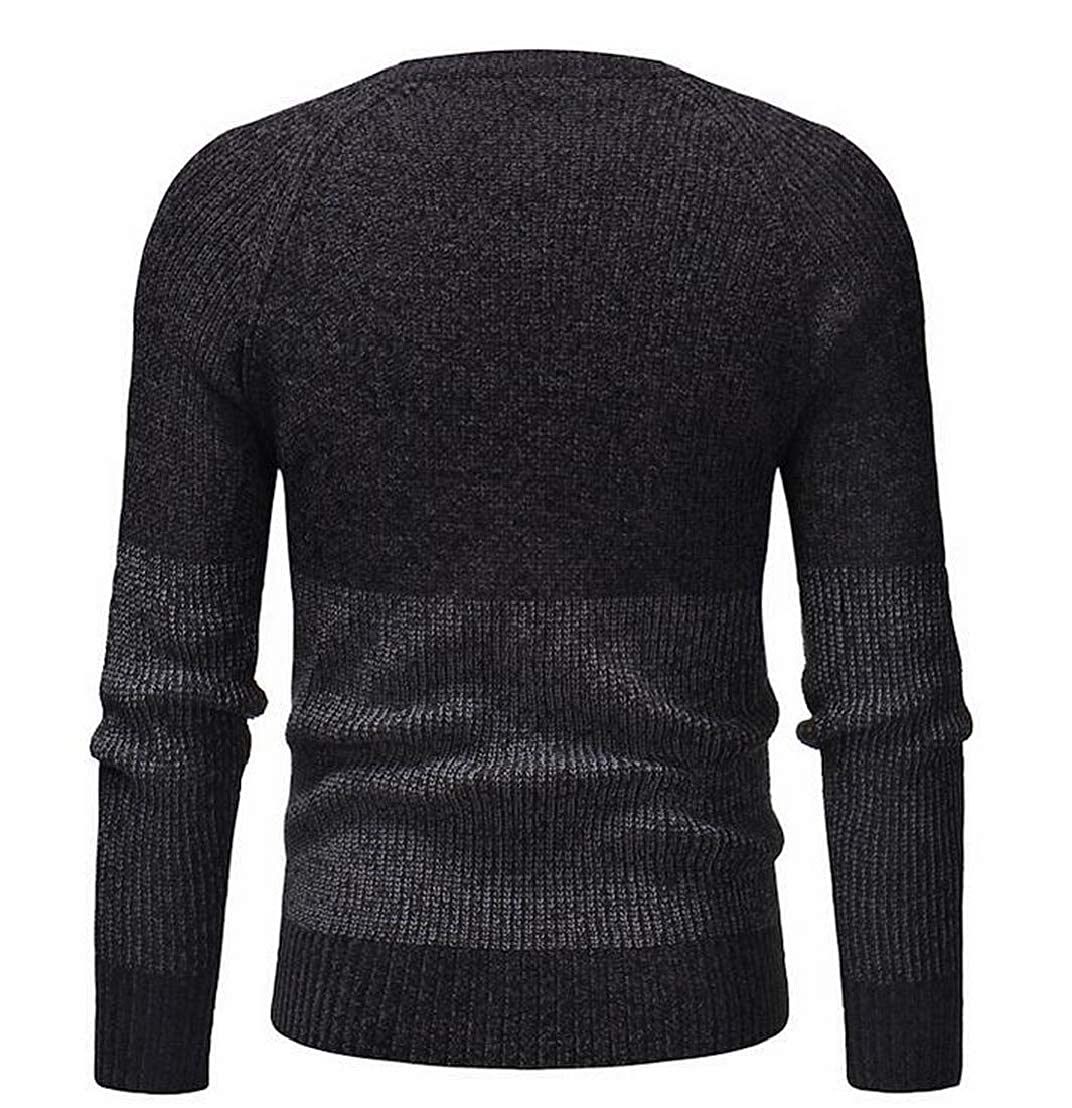 GRMO Men Autumn Casual V-Neck Long Sleeve Button-Down Basic Cardigan Sweaters
