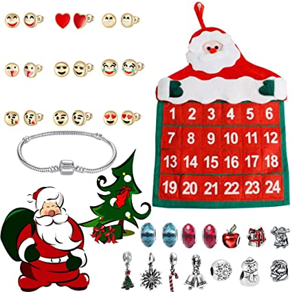 Countdown To Christmas 2019 Schedule Amazon.com: Cywulin Jewelry Advent Calendar 2019, 24 Day Countdown