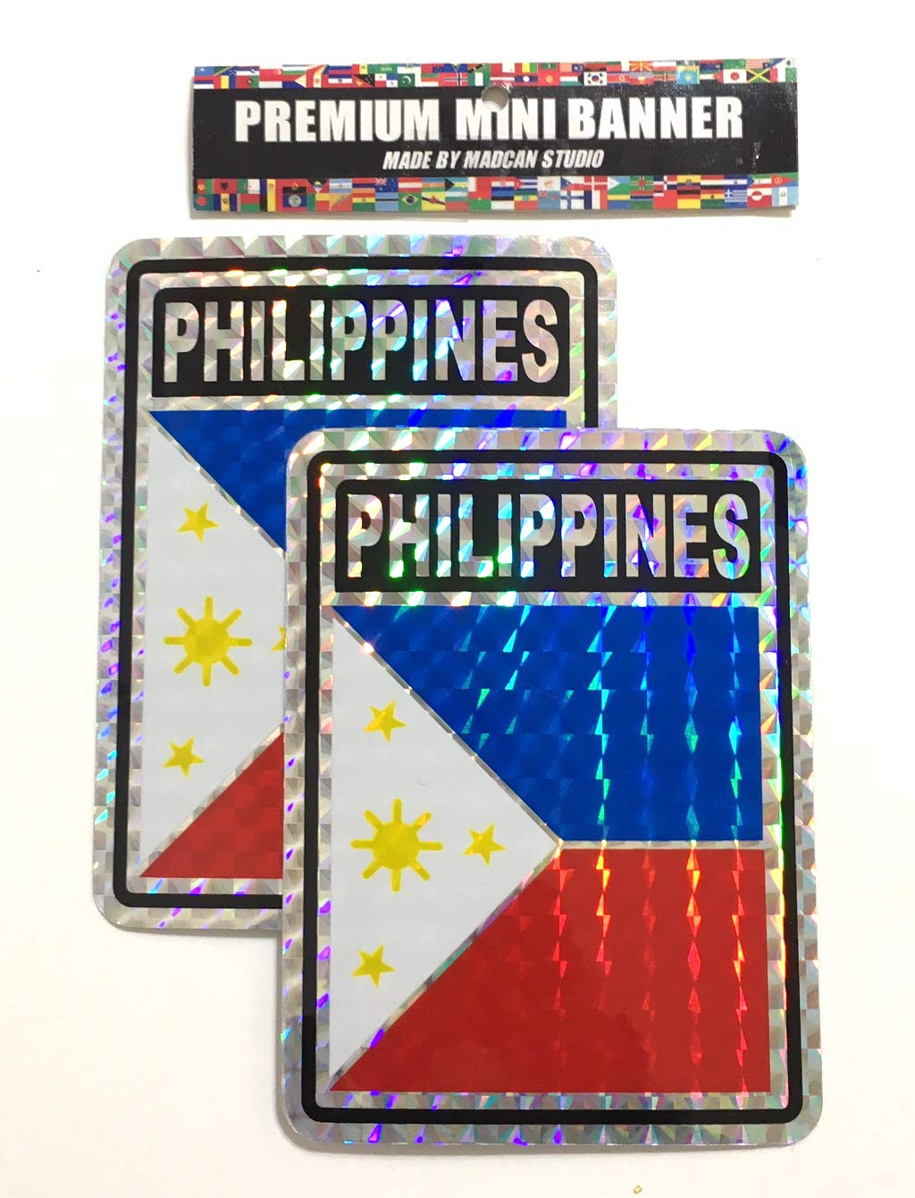 Mad can Studios Philippines Flags Stickers Decals car Flags Automobile Accessories Home Philippines Flag