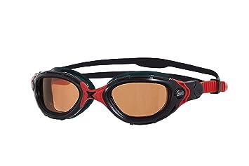 Zoggs Predator Flex Polarized Ultra - Gafas de natación, Negro-Rojo, Talla única, 1 unidad: Amazon.es: Deportes y aire libre