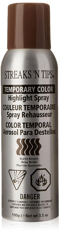 Amazon.com : Streaks N Tips Burnt Brown Temporary Spray-on Hair Color, 3.5 oz : Hair Highlighting Products : Beauty