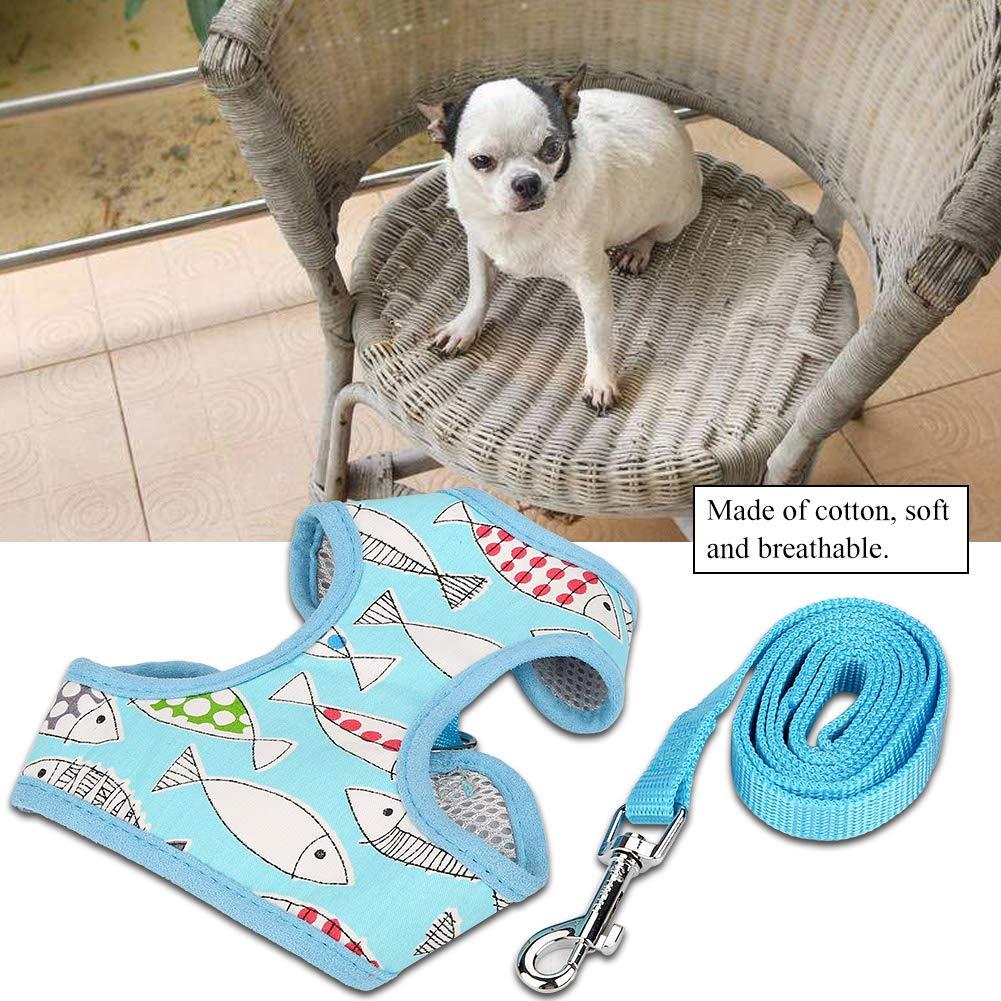 C/ómodo y Transpirable patr/ón de Chaleco de Dibujos Animados Lindo Perro Mascota arn/és Ropa para Mascotas