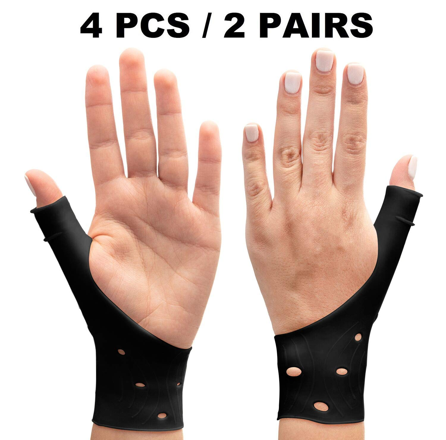 DropSky Gel Wrist Thumb Brace Breathable Waterproof | Right & Left Hand | Light Support, Relief Pain, Carpal Tunnel, Arthritis Wrist & Thumb, Great For Pilates, Yoga, Golf, Writing, Typing.