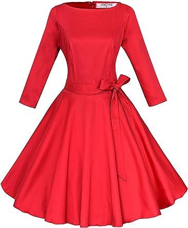 ANGVNS Vestido vintage de estilo parisino ladylike años 50 con ...