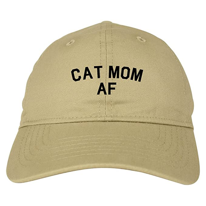 7a5206fb141 FASHIONISGREAT Cat Mom AF Pet Lover Mother Dad Hat Baseball Cap Beige