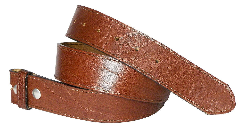 Fronhofer cinturón cambiable, 4 cm, cosido | cuero natural sin hebilla | broche de presión | cinturón con curtido vegetal, también en tallas grandes