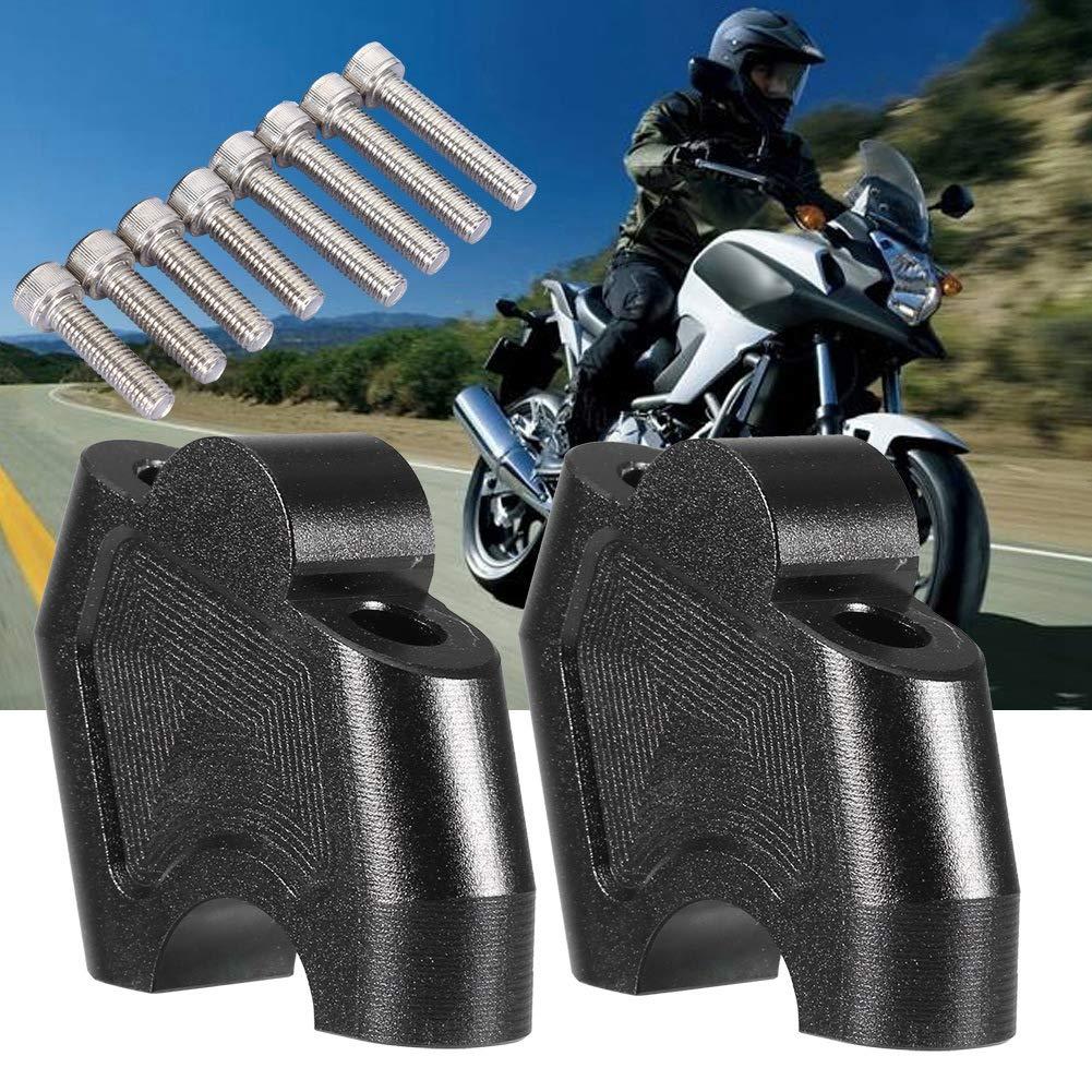 KIMISS Motorcycle Handlebar Risers Black A Pair CNC Motorcycle Bar Handlebar Mounts Riser Clamp Set for NC700X NC700S NC750X NC750S CB500F CB500