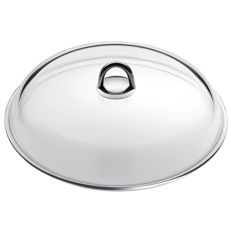 Silit Glass Lid for Passion Stew Pot Ø 28 cm Metal Handle Dishwasher Safe