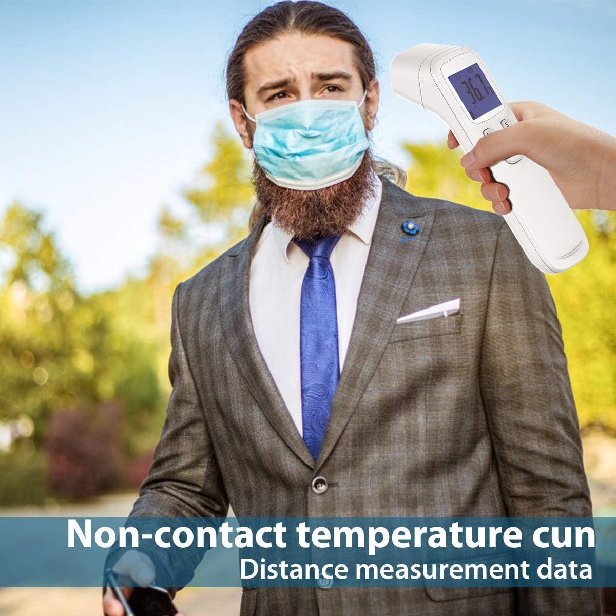 Term/ómetro infrarrojo Pistola de temperatura para beb/és y adultos Term/ómetro de mano LCD digital frontal sin contacto