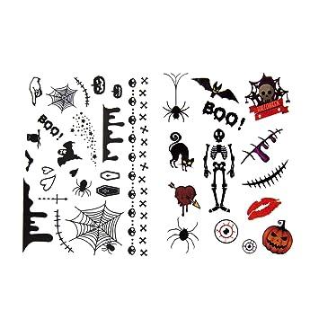 Oblique Unique® Tatuajes temporales para niños para Halloween – 36 ...